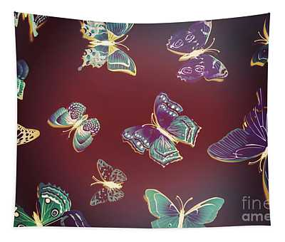 Paper Wings. Dreamy Flights Tapestry