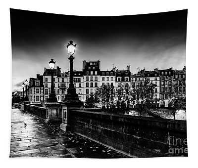 Tapestry featuring the photograph Paris At Night - Pont Neuf by Miles Whittingham
