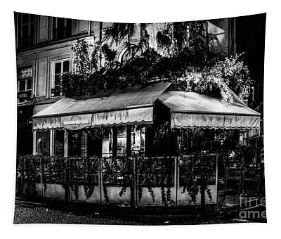 Tapestry featuring the photograph Paris At Night - Rue De Buci by Miles Whittingham