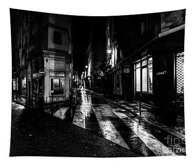 Paris At Night - Rue De Seine Tapestry