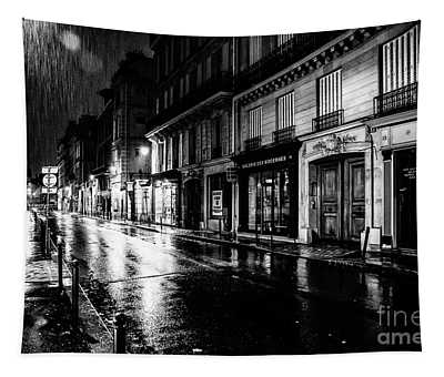 Tapestry featuring the photograph Paris At Night - Rue Saints Peres by Miles Whittingham