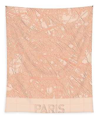 Paris Blueprint City Map Tapestry