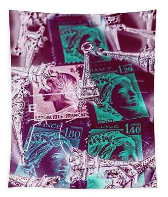 Parisian Postmarks Tapestry
