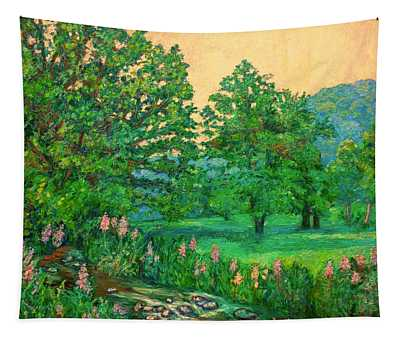 Park Road In Radford Tapestry