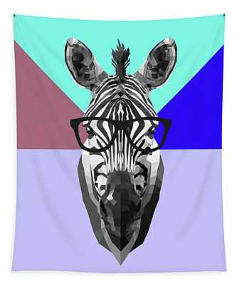 Party Zebra In Glasses Tapestry