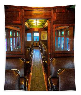 Passenger Train Memories Tapestry