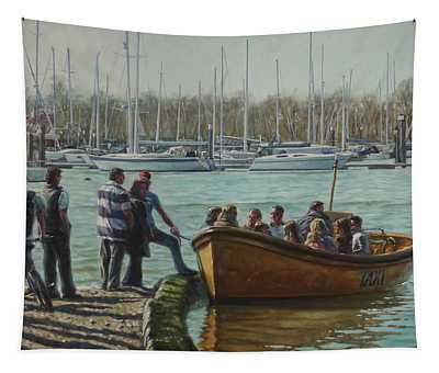 Passengers Boarding The Hamble Water Taxi In Hampshire Tapestry