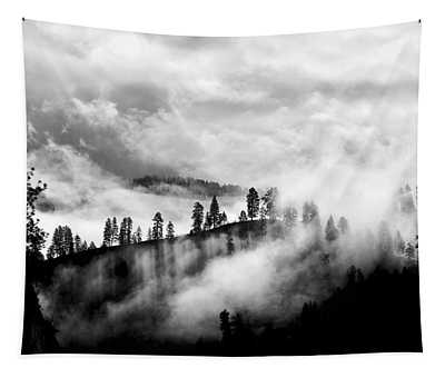 Passing Storm Central Idaho Mountains Tapestry