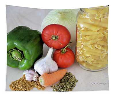 Pasta Time Food Photograph Tapestry