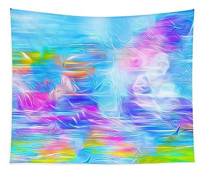 Pastel Abstract Splash Aquarelle Tapestry