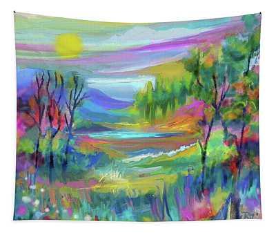Pastel Landscape Tapestry