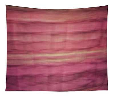 Pastel Lined Abstract Background Of Pinks, Oranges And Yellows Tapestry