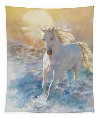 Pastel Sunset Tapestry