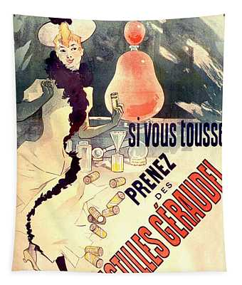 Pastilles Geraudel Vintage French Advertising  Tapestry