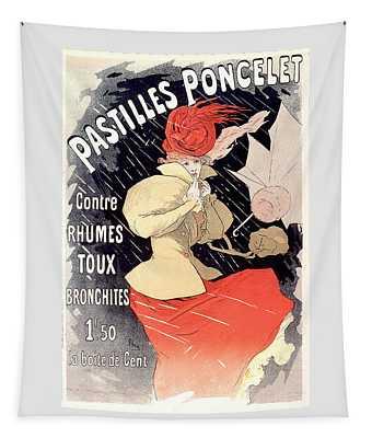 Pastilles Poncellet Vintage French Advertising  Tapestry