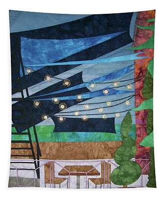Patio At The Winds Tapestry