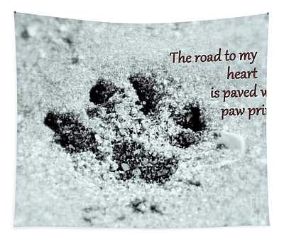 Tapestry featuring the photograph Paw Prints by Patti Whitten