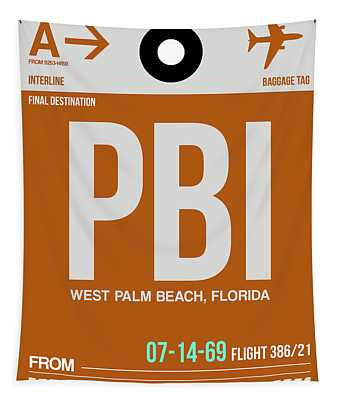 Pbi West Palm Beach Luggage Tag II Tapestry
