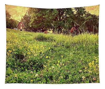Peaceful Pastoral Perspective Tapestry