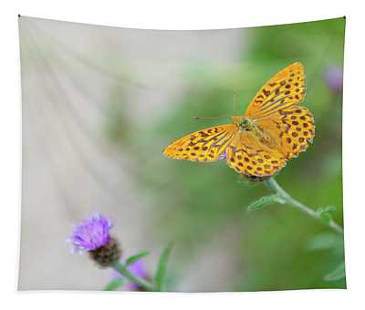 Pearl Bordered Fritillary Butterfly Tapestry