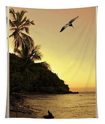Pelican Sundown Tapestry