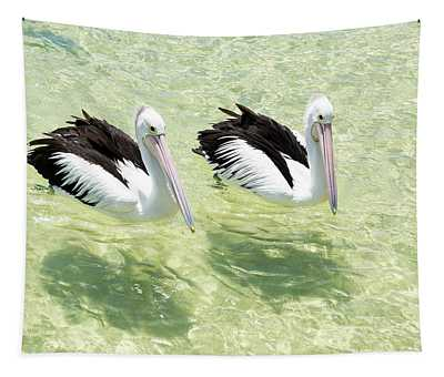 Pelicans Tapestry