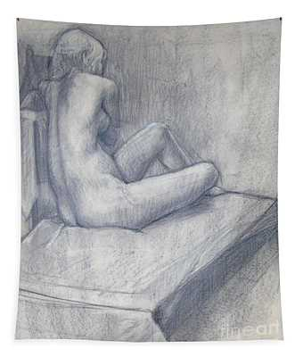 Pensive Nude Tapestry