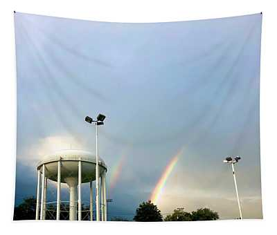 Perry Hall Double Rainbow Tapestry