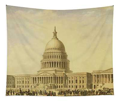 Perspective Rendering Of United States Capitol Tapestry
