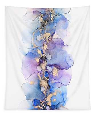 Petals And Dots Abstract Painting Tapestry