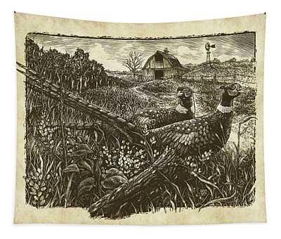 Pheasants Tapestry