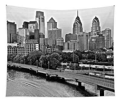 Philly In Charcoal Tapestry