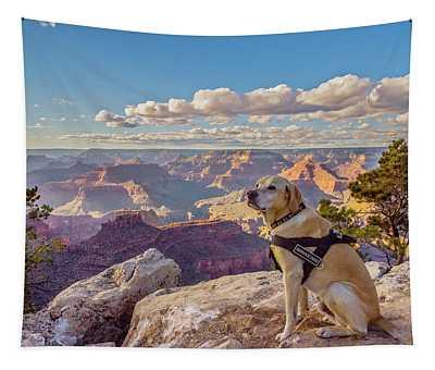 Photo Dog Jackson At The Grand Canyon Tapestry