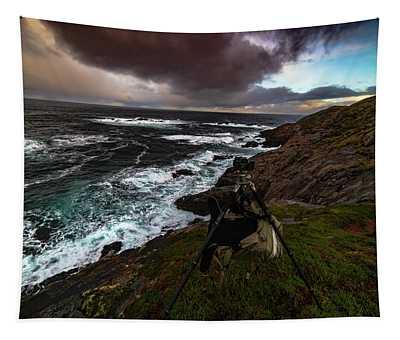 Photo Gear On Landscape Shot Tapestry