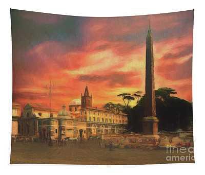 Piazza Del Popolo Rome Tapestry