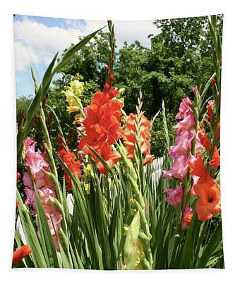 Picket Fence Flowers Tapestry