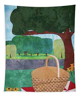 Picnic At Ellis Pond Tapestry