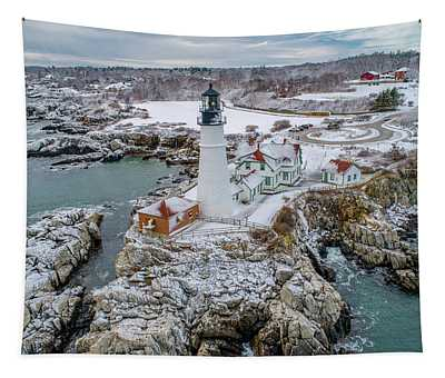 Picturesque Maine  Tapestry