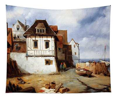 Pier In Normandy Tapestry