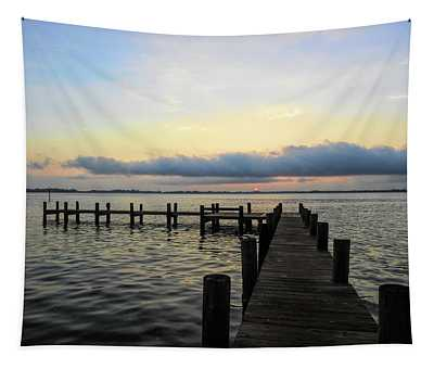 Pier Into Morning Tapestry