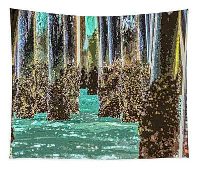 Pier Underworld Incoming Wave Tapestry