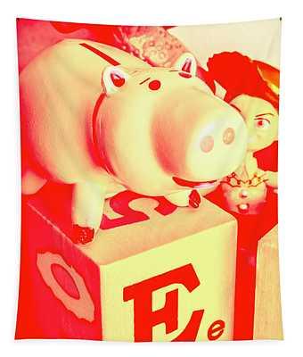 Piggy Bank Wall Tapestries