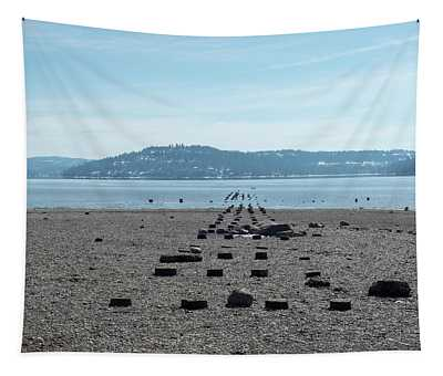Tapestry featuring the photograph Pilings by Matthew Nelson