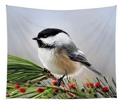Tapestry featuring the photograph Pine Chickadee by Christina Rollo