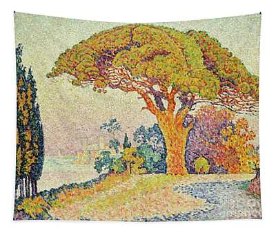 Pine Trees At Bertaud, Saint Tropez Provence Tapestry
