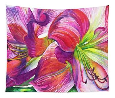 Pink Amarylis Tapestry