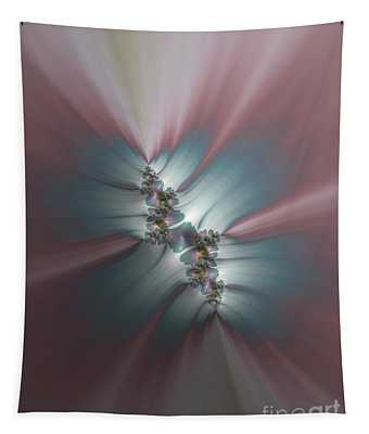 Pink And Blue Morning Sunrise Fractal Abstract Tapestry