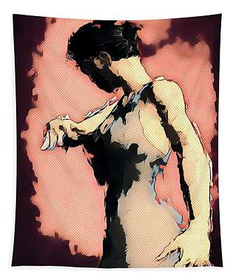Pink Flamenco Tapestry