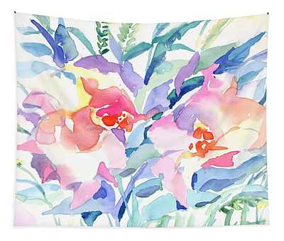 Pink Flowers Tapestry