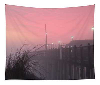 Pink Fog At Dawn Tapestry